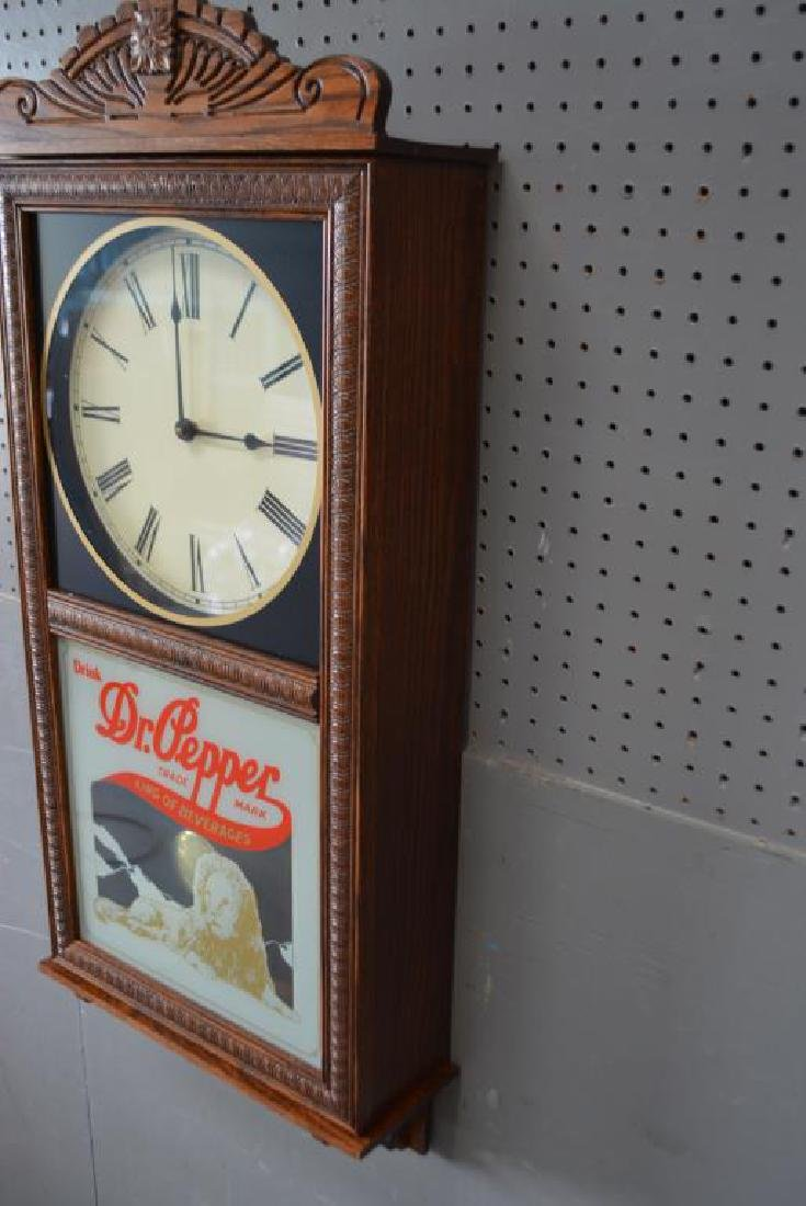 "Dr. Pepper Wall Clock 37""H,   16""  x   5 1/2"" - 3"