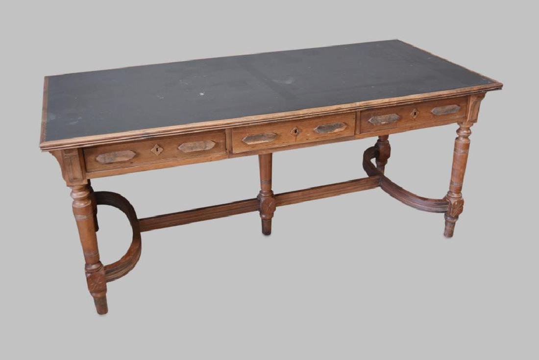 "Library Table 31 1/4""H,   72""L,   34 1/4""W"
