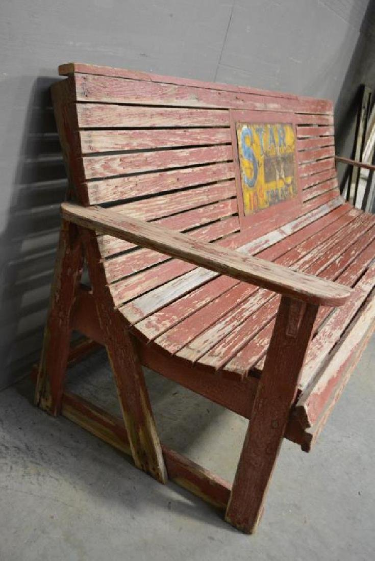 """Advertising Country Store Bench 33""""H,   88 1/2""""L, - 2"""