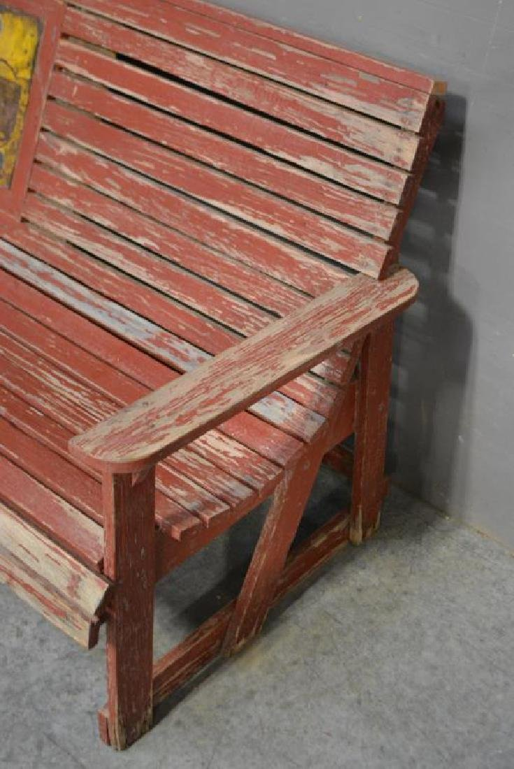 """Advertising Country Store Bench 33""""H,   88 1/2""""L, - 3"""