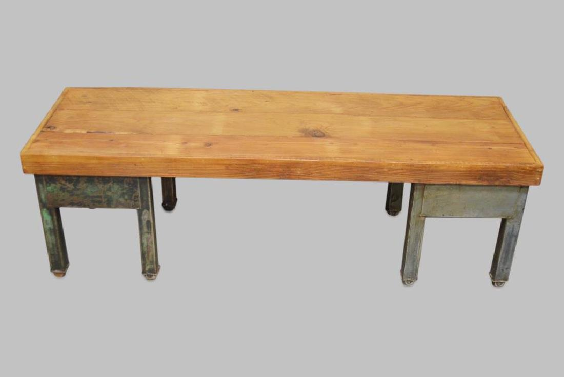 """Industrial Coffee Table 19 1/4""""H,   61 1/2""""L,   20"""