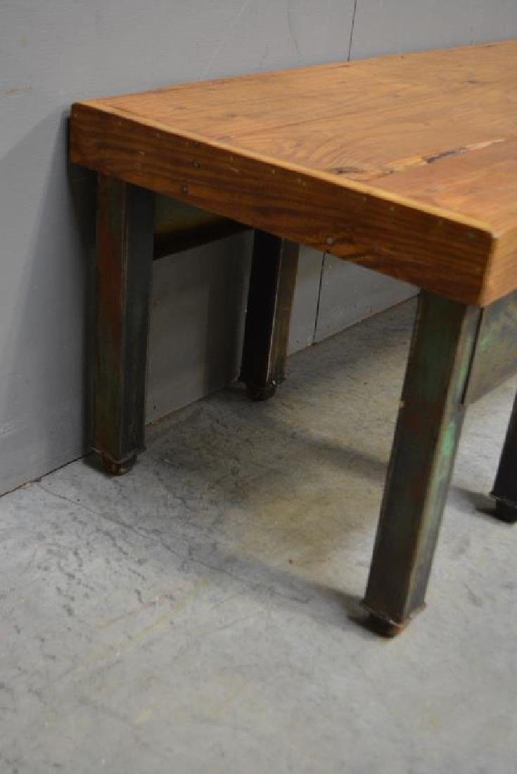 """Industrial Coffee Table 19 1/4""""H,   61 1/2""""L,   20 - 2"""
