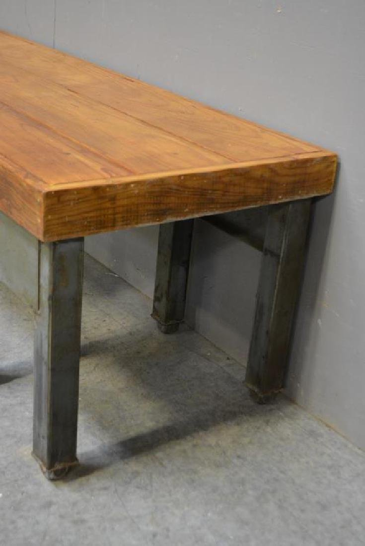 """Industrial Coffee Table 19 1/4""""H,   61 1/2""""L,   20 - 3"""
