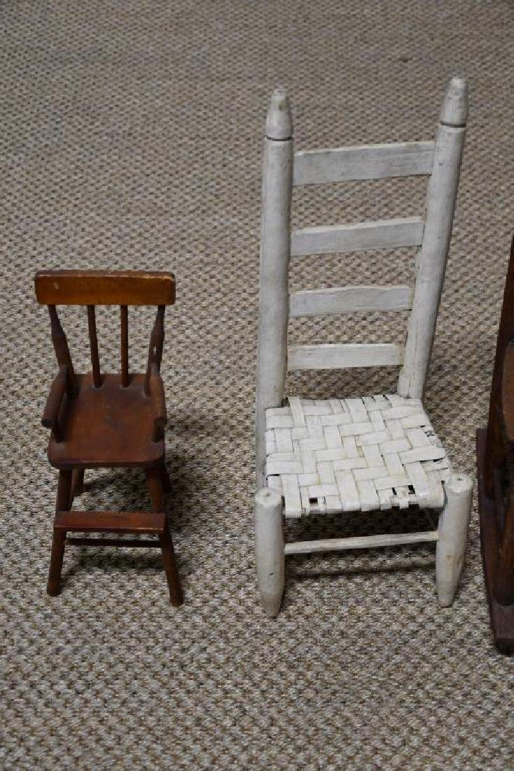 4-Piece Lot: 2 Doll Chairs & 2 Doll Rockers *from - 2
