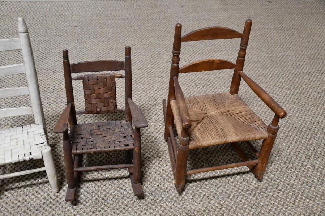 4-Piece Lot: 2 Doll Chairs & 2 Doll Rockers *from - 3