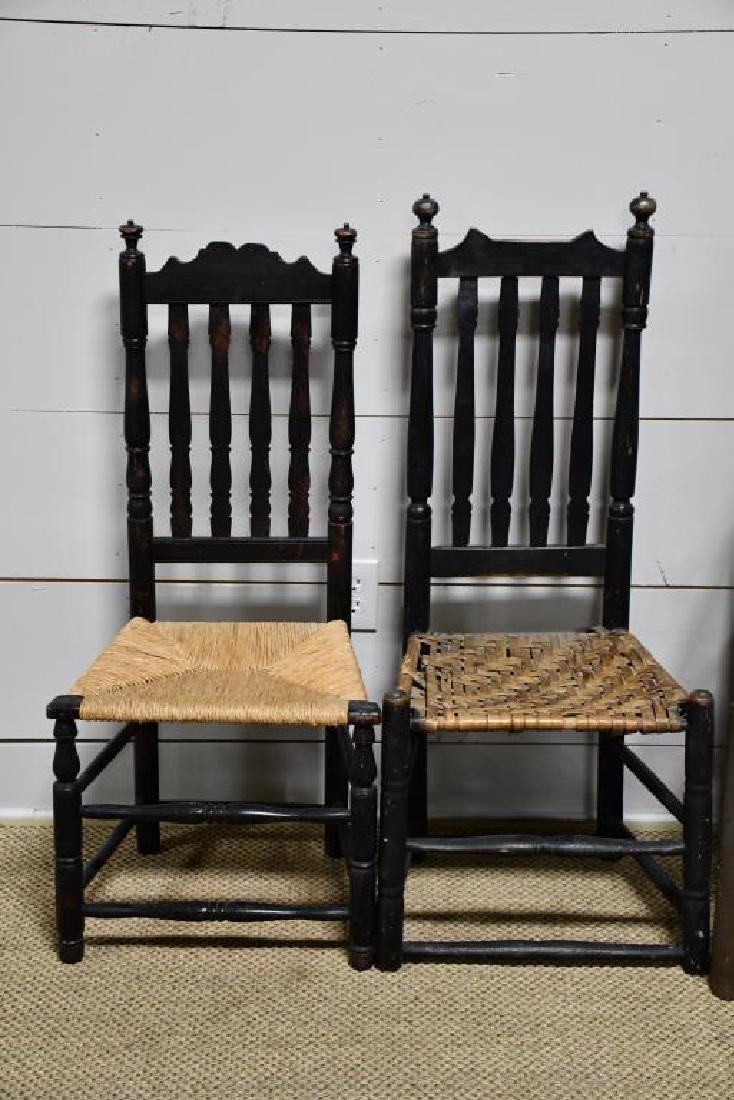 4-Piece Early Bannister Back Chair Lot *from Harriette - 2