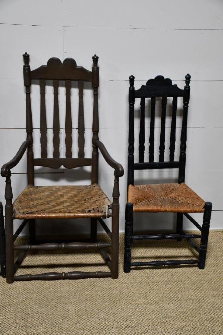 4-Piece Early Bannister Back Chair Lot *from Harriette - 3