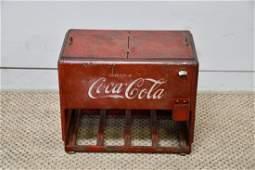 Salesmans Sample CocaCola Cooler w Original Paper