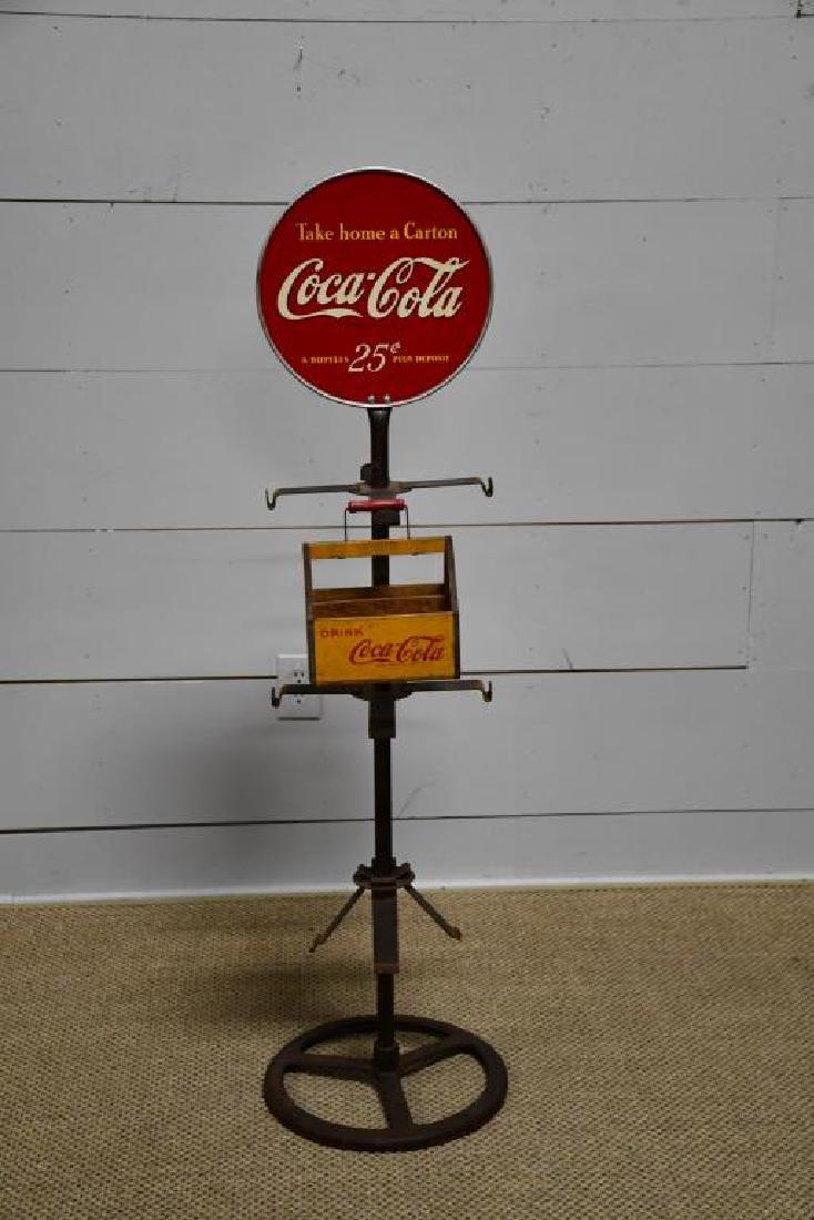 "Coca-Cola Advertising Display w/ Crates 56""H,   13"""