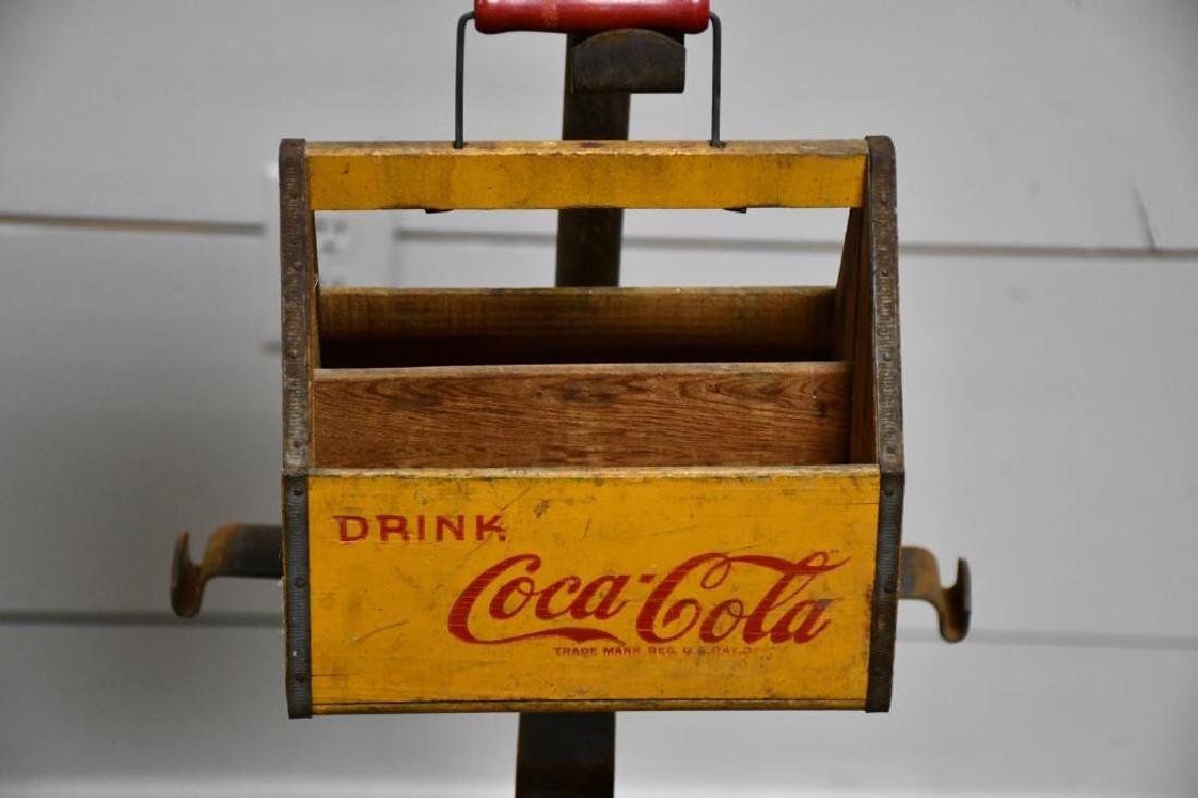 "Coca-Cola Advertising Display w/ Crates 56""H,   13"" - 3"