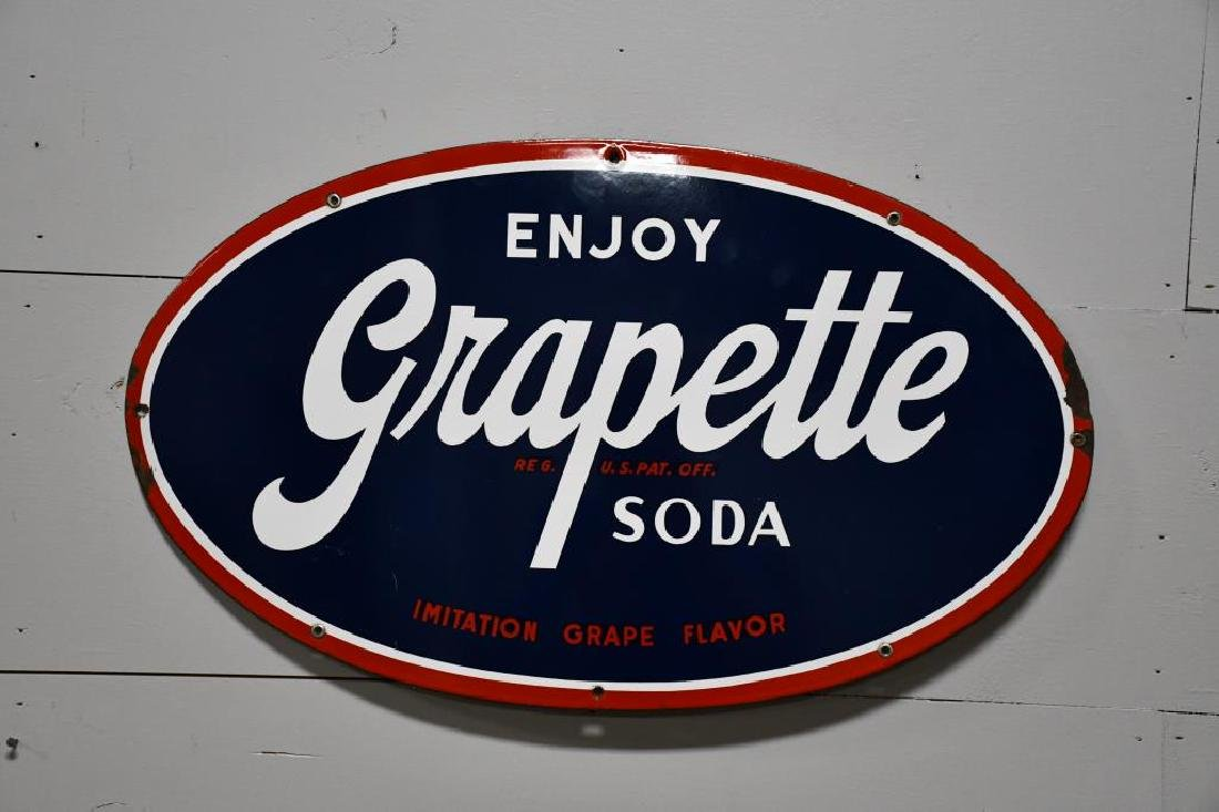 "SSP Grapette Advertising Sign 16""  x   27"""