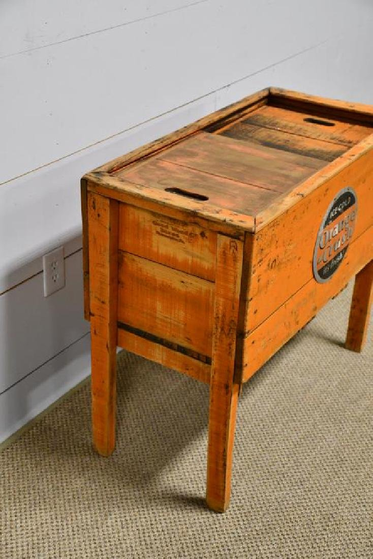 """Wooden Country Store Orange Crush Cooler 31 1/2""""H, - 2"""