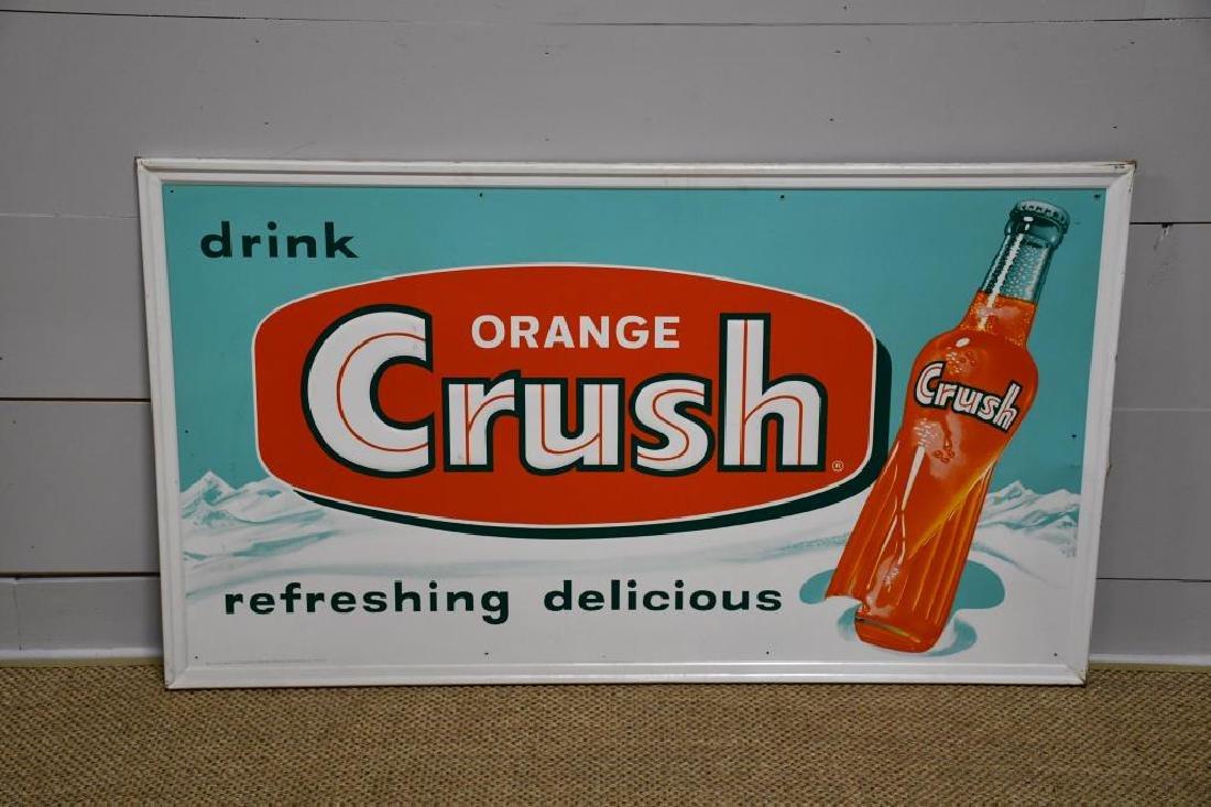 """Metal Orange Crush Sign 32""""  x   56"""""""