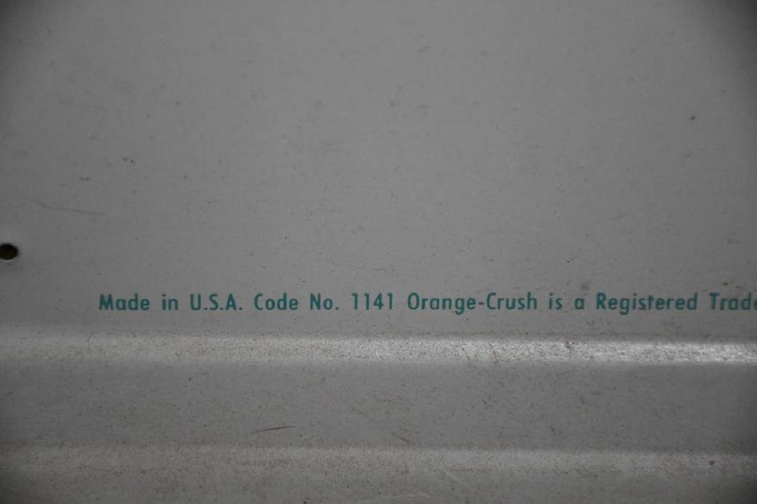 "Metal Orange Crush Sign 32""  x   56"" - 2"
