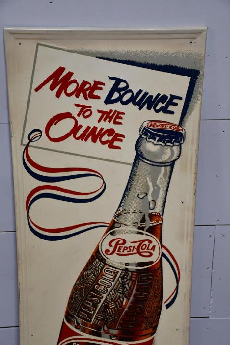 "Metal Pepsi Cola Advertising ""More Bounce to the Ounce"" - 2"
