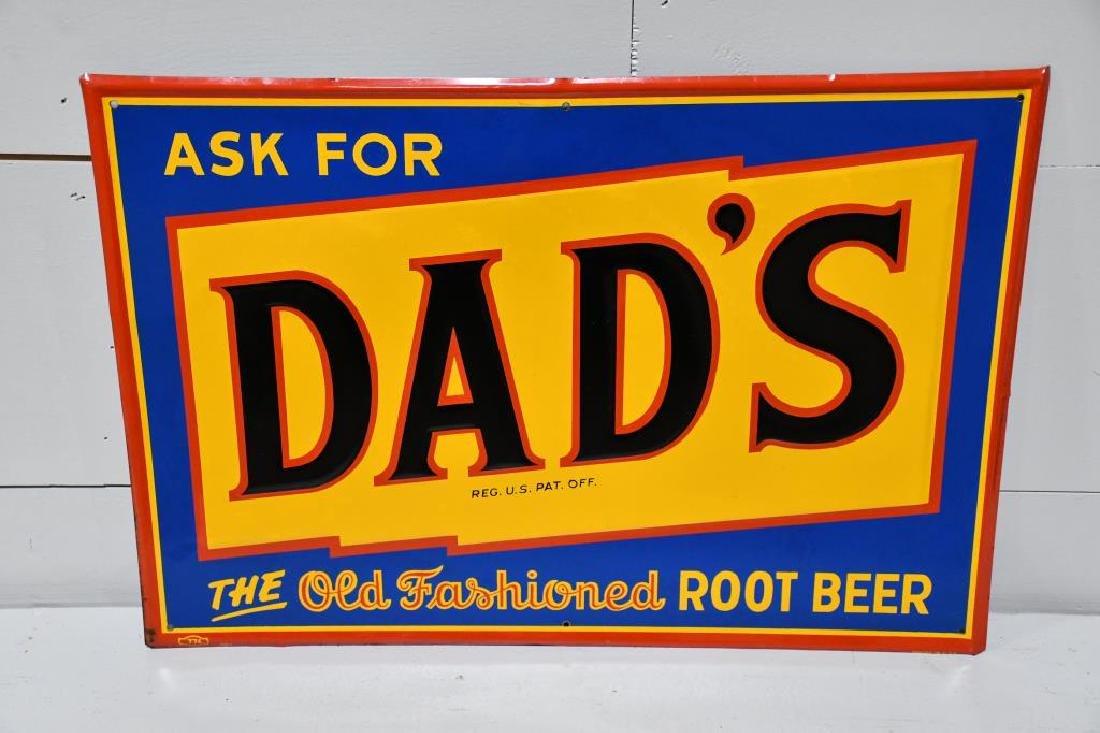 """Metal Dad's Root beer Sign 19""""  x   27"""""""