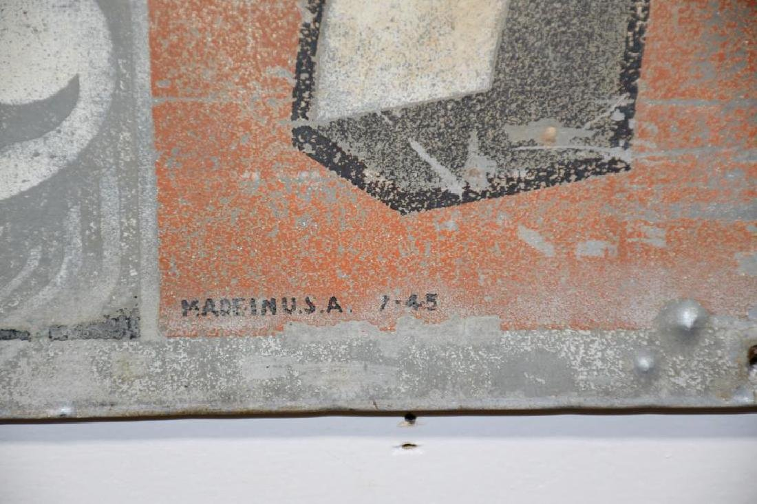 "Metal 7-Up Advertising Sign 12""  x   30 1/8"" - 4"