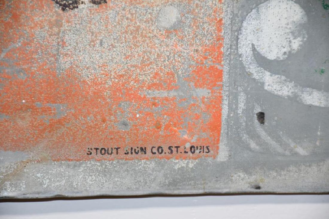 "Metal 7-Up Advertising Sign 12""  x   30 1/8"" - 5"