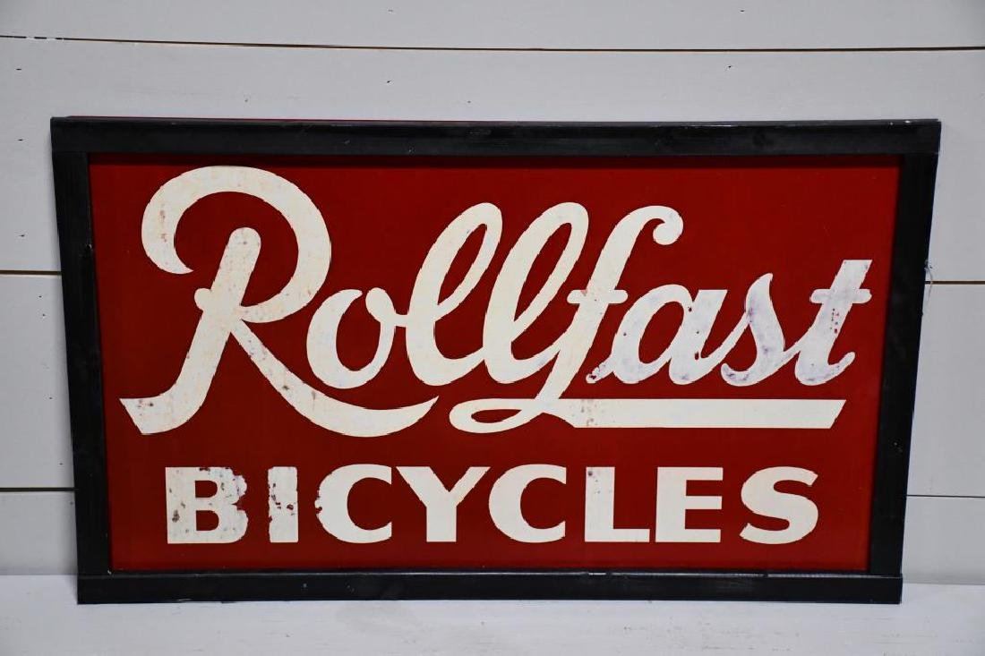 "Metal Rollfast Bicycles Sign 24""  x   40"""