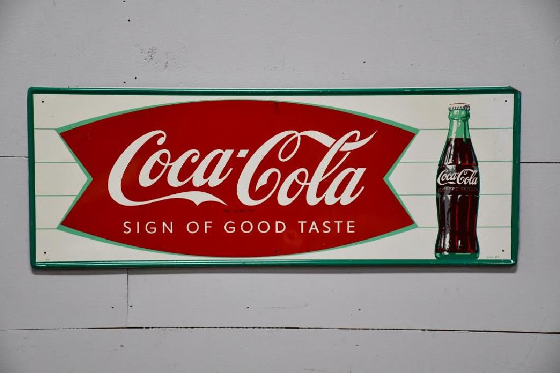 "Metal Coca-Cola Advertising Sign ""Sign of Good Taste"""