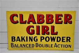 """Metal Clabber Girl Baking Powder Sign 36"""" x 60"""""""