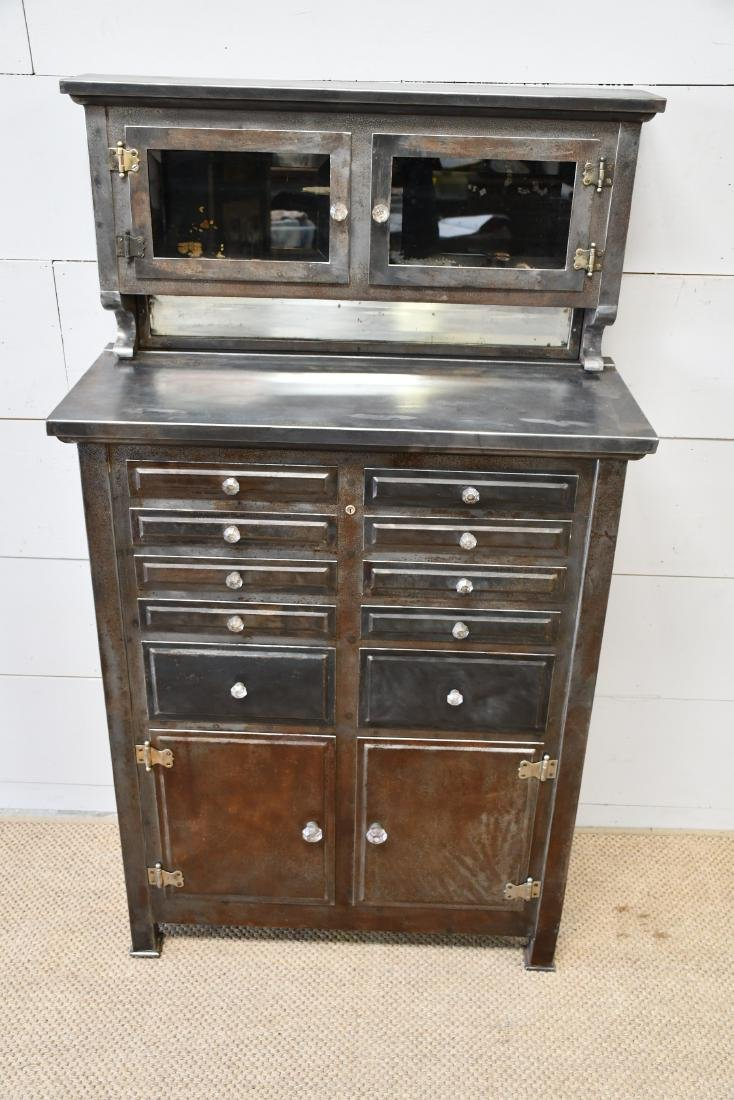 "Industrial Metal Dental Cabinet 59""H,   34""  x   14"