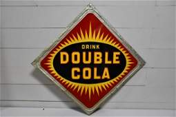 Metal Drink Double Cola Advertising Sign 63 14  x