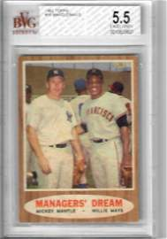 1962 TOPPS Mantle/Mays Baseball Card