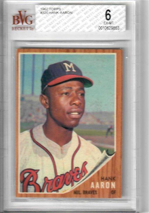 1962 Topps Hank Aaron Baseball Card
