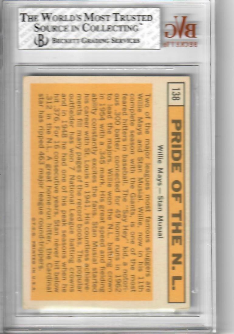 1963 TOPPS Mays/Musial Baseball Card - 2