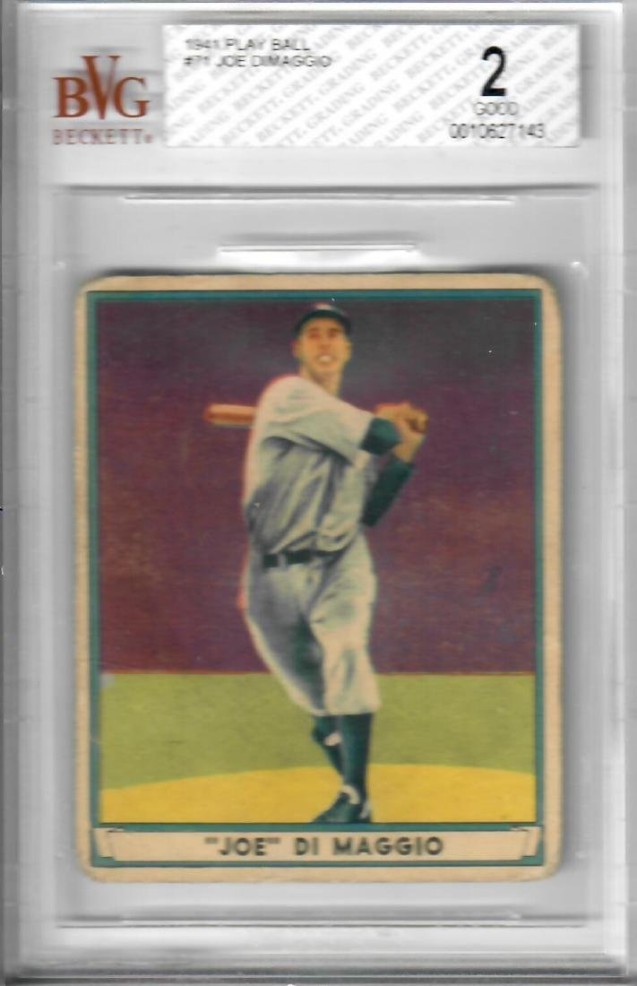 1941 Play Ball Joe Dimaggio Baseball Card