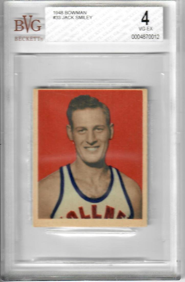 1948 Bowman Jack Smiley Basketball Card