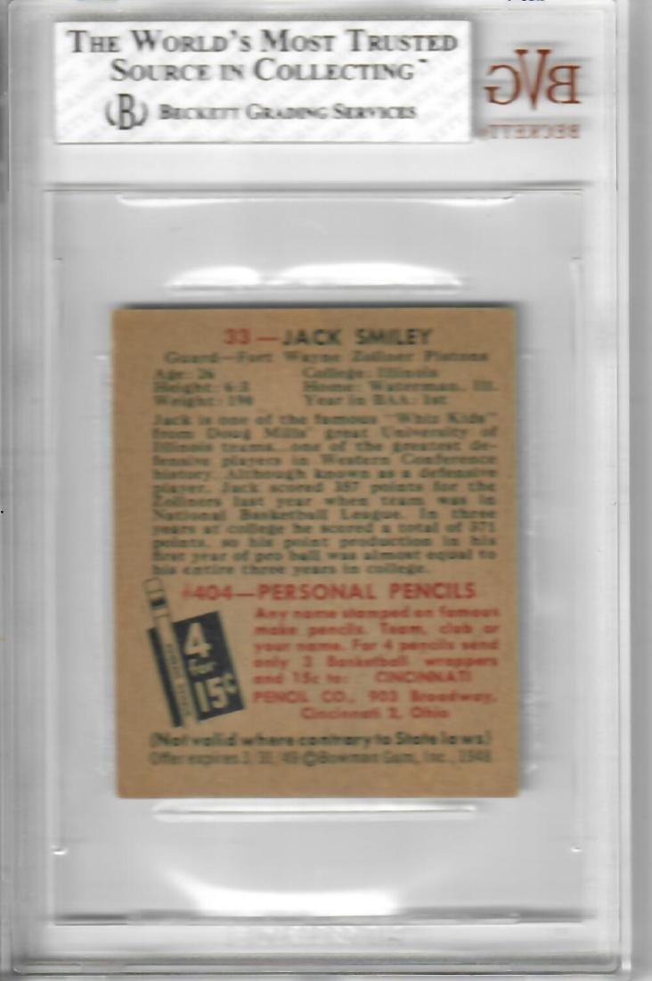 1948 Bowman Jack Smiley Basketball Card - 2