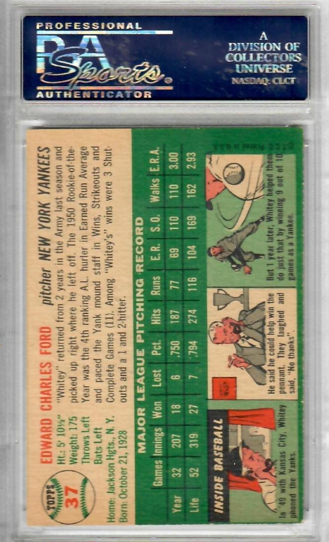 1954 TOPPS Whitey Ford Baseball Card - 2