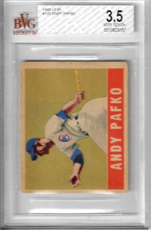 1949 Leaf Andy Pafko Baseball Card