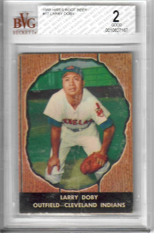 1958 Hires Root Beer Larry Doby Baseball Card