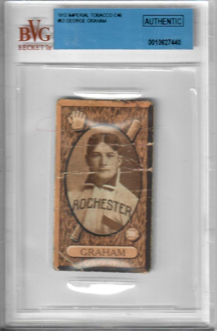 1912 Imperial Tobacco George Graham Baseball Card