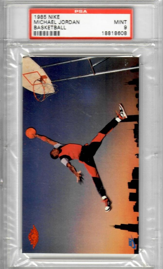 1985 Nike Michael Jordan Basketball Card