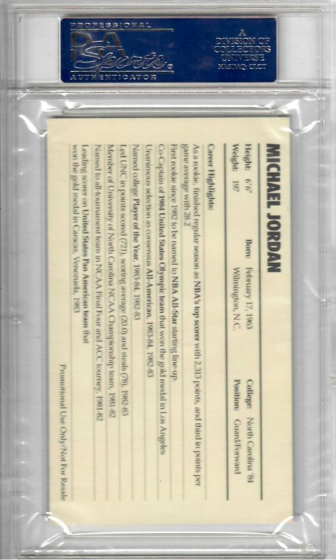 1985 Nike Michael Jordan Basketball Card - 2