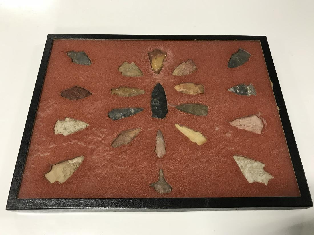 Frame Lot Indian Arrowheads