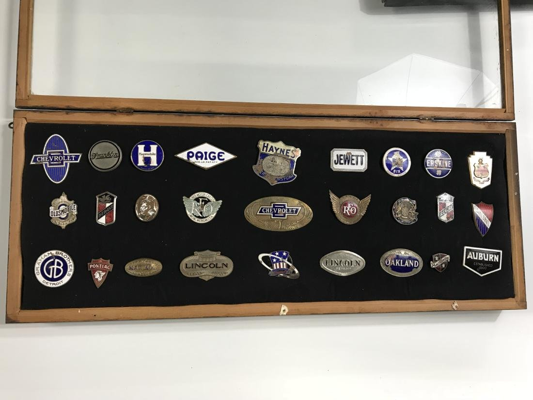 Group Lot Antique Auto Badges