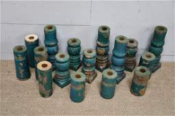 16-Piece Lot of Architectural Candle Holders
