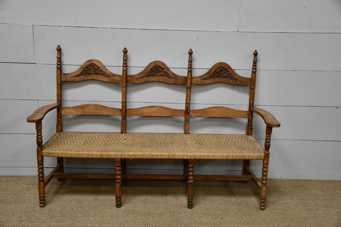"Country French Settee 42 3/4""H,   67""L,   22 1/2""W"