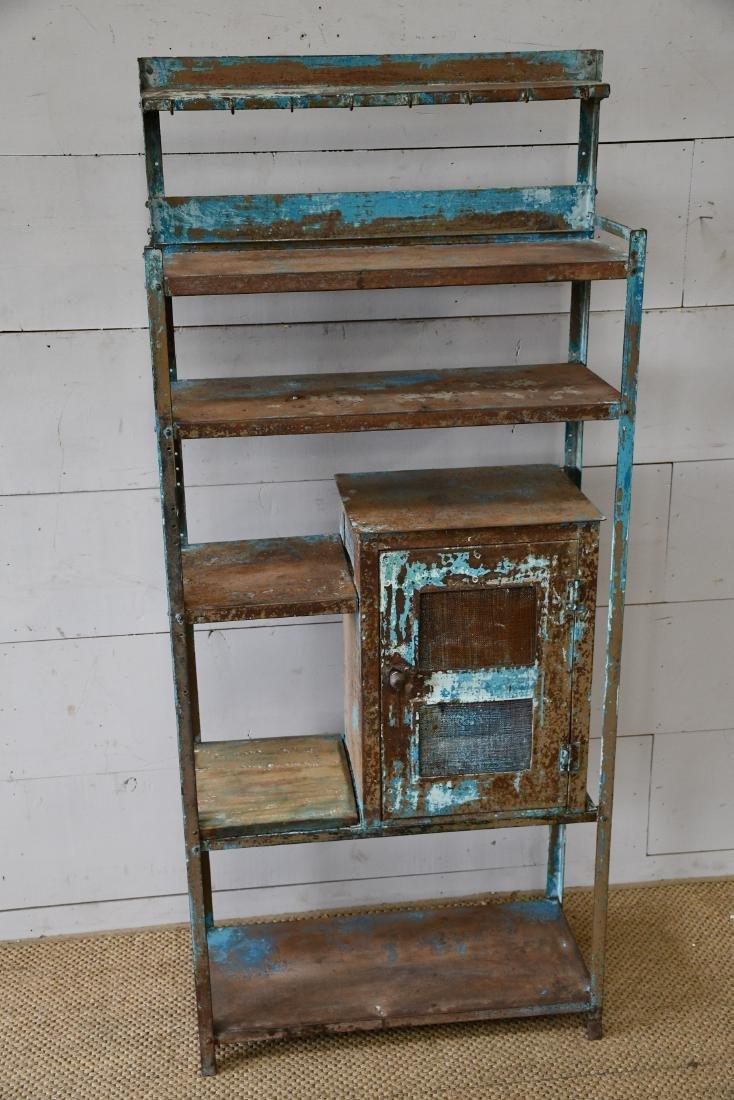 "Painted Metal Kitchen Rack 65""H,   28 1/4""  x   12""W"