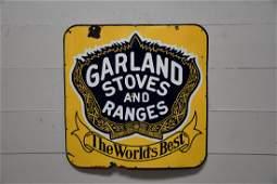 """Porcelain """"Garland Stoves & Ranges"""" Sign 38"""" x 38"""""""