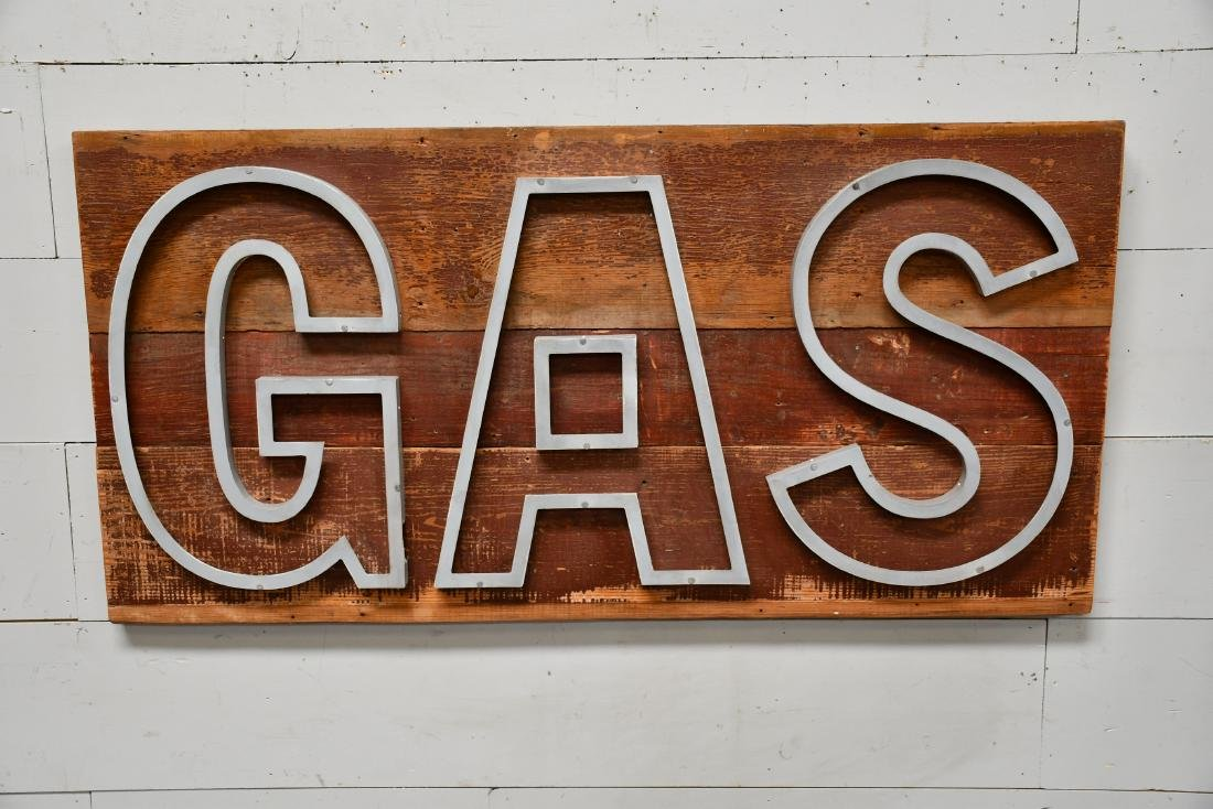 """Gas"""" Sign 29 1/2""""  x  60"""