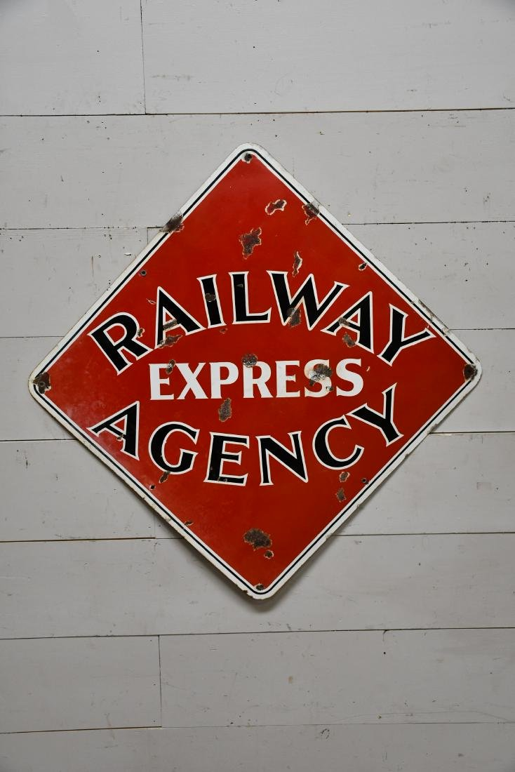 Railway Express Agency Sign  -   porcelain