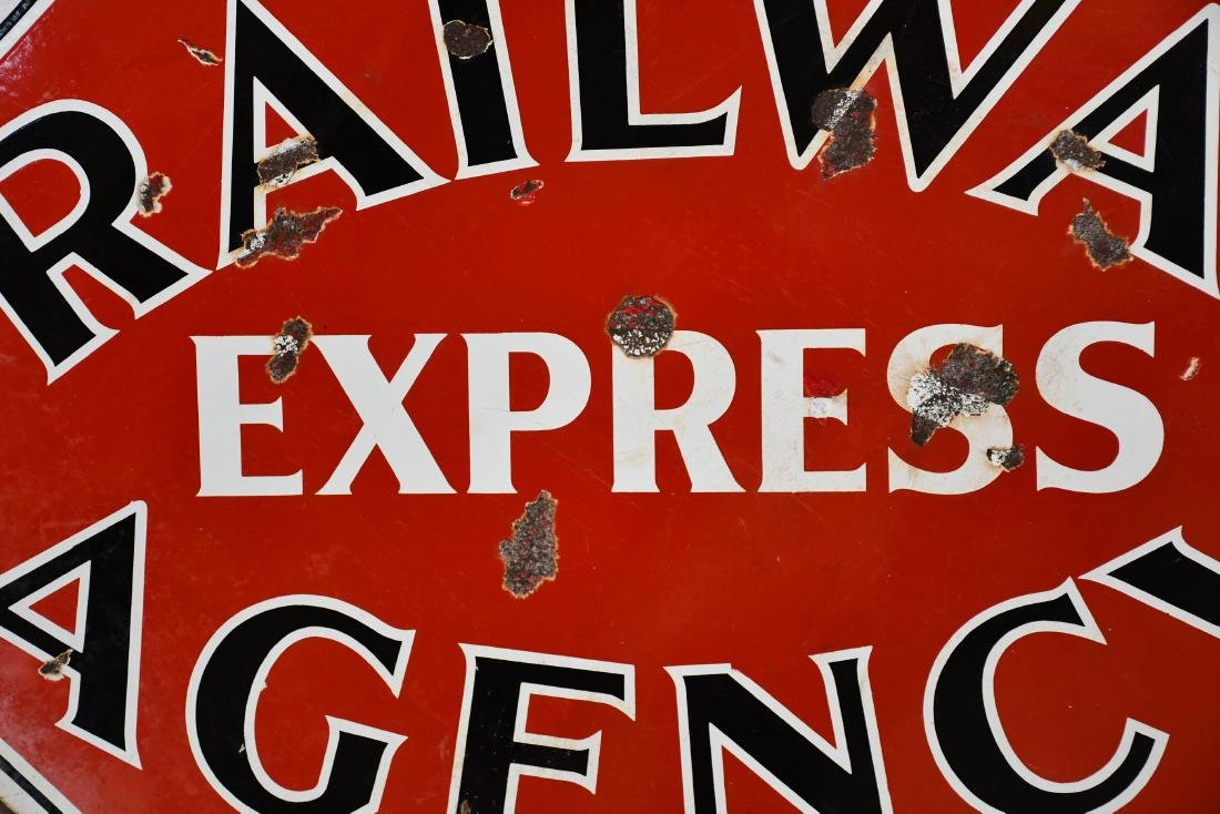 Railway Express Agency Sign  -   porcelain - 2