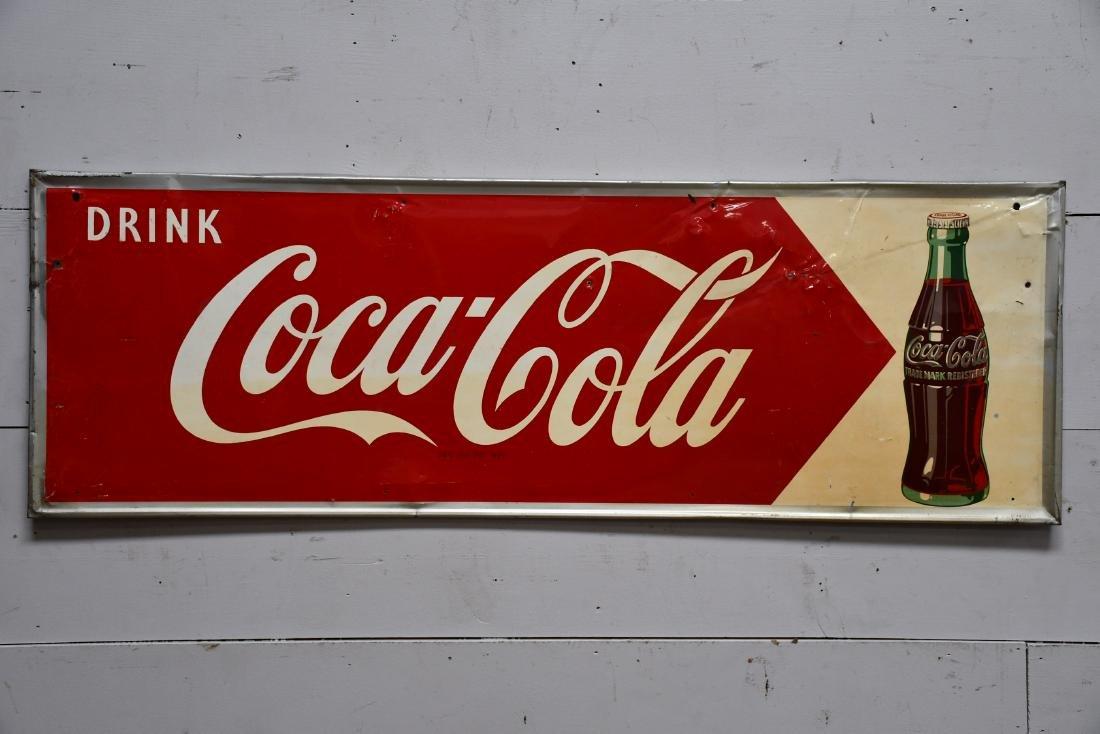 """Coca - Cola Sign      -    metal 18""""  x   54"""""""