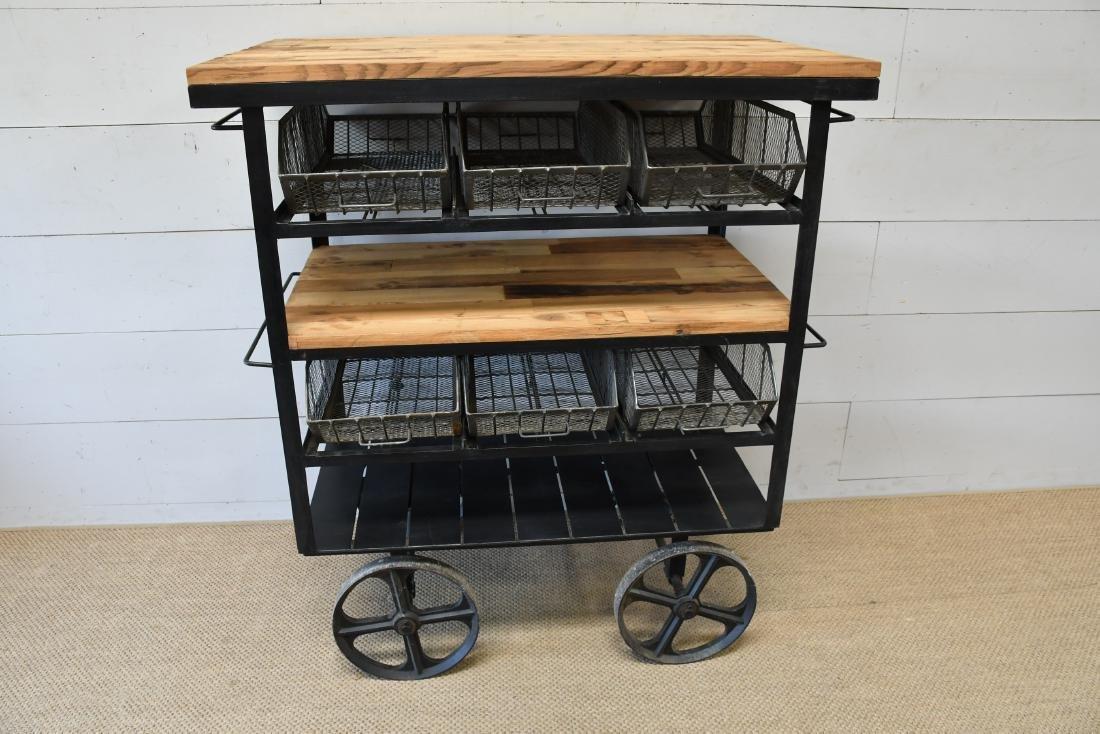 """Industrial Work Cart w/ Baskets 56""""H,   48""""  x   30"""""""